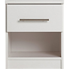 more details on Normandy 1 Drawer Bedside Chest - White.