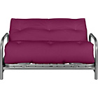 more details on ColourMatch Mexico Futon Sofa Bed with Mattress- Purple Fizz