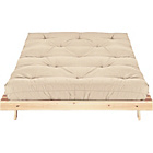 more details on ColourMatch Tosa Futon Sofa Bed with Mattress - Cotton Cream