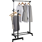 more details on HOME Clothes Rail with Lower Swing Out Rail - Black.