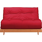 more details on ColourMatch Tosa Futon Sofa Bed with Mattress - Poppy Red.