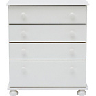 more details on New Stirling 4 Drawer Chest - White.