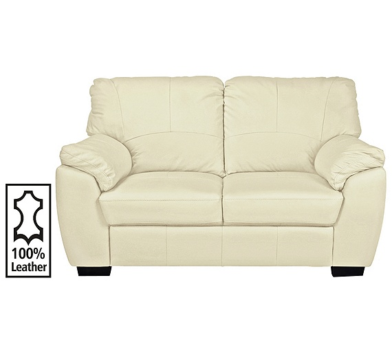 Buy Collection Milano 2 Seater Leather Sofa Ivory At Your Onl