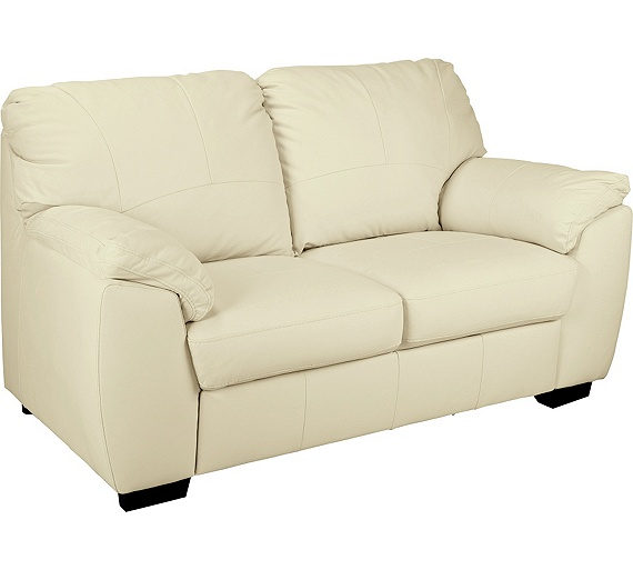 Buy Collection Milano 2 Seater Leather Sofa Ivory At