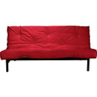 more details on ColourMatch Clive Futon Sofa Bed with Mattress - Poppy Red.