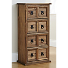 more details on Mountrose Puerto Rico 4 Drawer Tall Unit - Dark Stain.