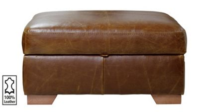 Buy Heart Of House Eton Leather Footstool Tan At Argos