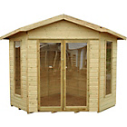 more details on Forest Blockley Wooden Corner Summerhouse - 7 x 7ft.