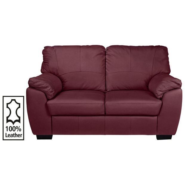 Buy Collection Milano 2 Seater Leather Sofa Red At Argos
