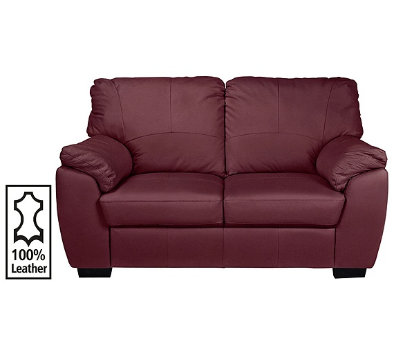 Buy collection milano 2 seater leather sofa red at argos for Leather sofa 7 seater