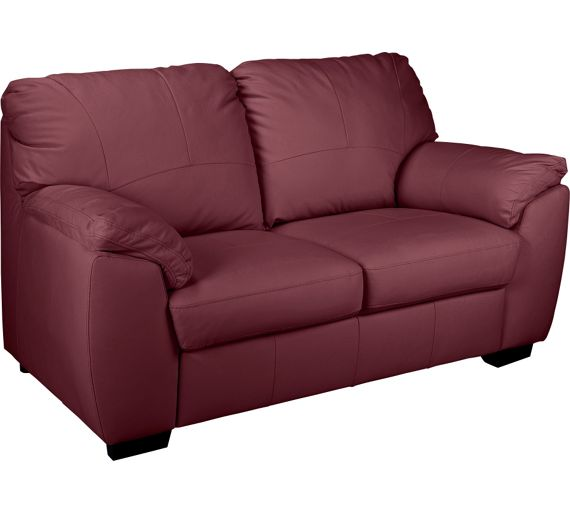 Buy Collection Milano 2 Seater Leather Sofa Red At Your Onlin