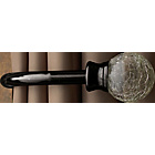 more details on Heart of House Austin Crackle Ball Curtain Holdbacks - Black
