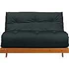 more details on ColourMatch Tosa Futon Sofa Bed with Mattress - Jet Black.