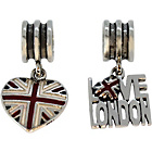 more details on Link Up S.Silver Union Jack and Love London Charms - 2.