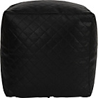 more details on PVC Quilted Beanbag Cube - Black.