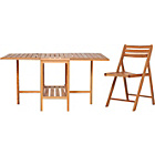 more details on Habitat Zeno Oak Garden Table and 4 Chairs Set.