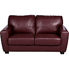 more details on Cesario Large Leather Sofa - Dark Red.