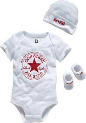 Buy Converse Uni White 3 Piece Gift Set 0 6 Months at