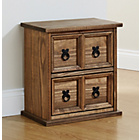 more details on Mountrose Puerto Rico 2 Drawer Unit - Dark Stain.