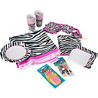 more details on Zebra Passion Party Kit for 16 Guests.