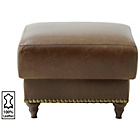 more details on Heart of House Argyll Studded Leather Footstool - Tan.