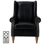more details on Heart of House Argyll Studded Leather Chair - Black.