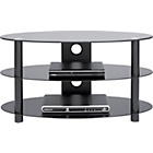 more details on Black Glass 32 Inch Curved Slimline TV Stand.