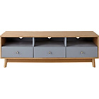 more details on Foley 3 Drawer TV Unit - Grey.