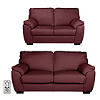 more details on Milano Large and Regular Leather Sofa - Red.