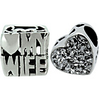 more details on Link Up S.Silver Love My Wife and No.1 Wife Charms - 2.