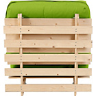 more details on ColourMatch Single Futon Sofa Bed with Mattress- Apple Green