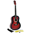 more details on Martin Smith 39 Inch Acoustic Guitar Pack - Red.