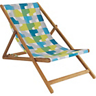 more details on Habitat Maui Blue and Green Patterned Deckchair.