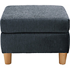 more details on Heart of House Colby Fabric Footstool - Charcoal.