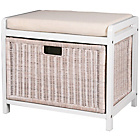 more details on Hamper Storage Bench - White.
