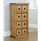 more details on Mountrose Puerto Rico 4 Drawer Tall Unit - Waxed Pine.