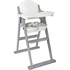 more details on East Coast Nursery Folding Highchair - White and Grey.