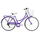 more details on Kingston Bexley 19 Inch Classic Purple Bike - Ladies.