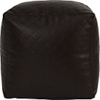 more details on PVC Quilted Beanbag Cube - Chocolate.