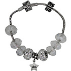 more details on Miss Glitter S.Silver Kids Clear Made-Up Bracelet with Box.