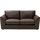 more details on Alfie Leather Effect Large Sofa - Chocolate.
