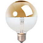 more details on Calex Halogen Gold Crown Mirror Globe 370 Lume Dimmable.