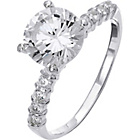 more details on Sterling Silver CZ Solitaire and Band Ring - Size O.