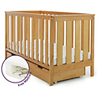 more details on Obaby York Cot Bed with Under Cot Drawer - Country Pine.