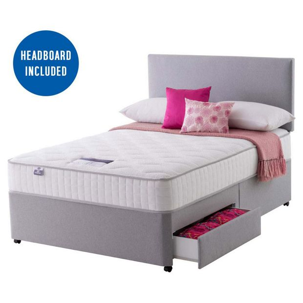 Buy silentnight middleton pocket memory superking 2 drw divan at your online shop Argos single divan beds