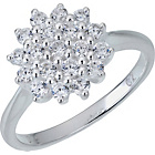 more details on Sterling Silver Cluster Ring - Size P.