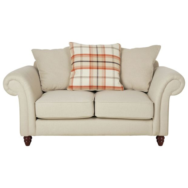 Buy heart of house windsor 2 seater fabric sofa cream Cream fabric sofa