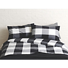 more details on Habitat Molto Blk/Wht Egyptian Cotton Duvet Cover - Kingsize