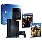 more details on PS4 500GB, Far Cry Primal, COD: Black Ops 3 Pre-order.