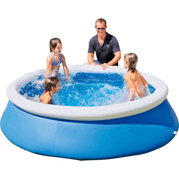 Buy bestway quick up octagonal family pool 8ft blue at for Garden paddling pools